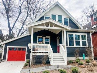 New luxury modern farmhouse cottage: walk to beach/downtown New Buffalo & pool!