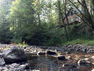 AREA FAVORITE! Stunning Creek-Front Cabin, Just Minutes From Mt. Rainier!