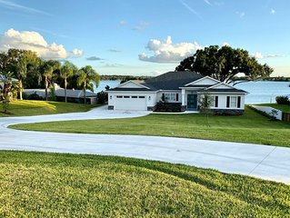 2019 Built Custom Home on Lake June with Beach, Dock and Huge Screened Patio!