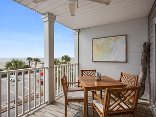 Beach Front Condo on the Strand, South Beach, Tybee Island, GA  STVR Reg. 02017A