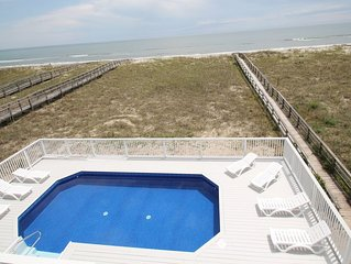 Sandy Dunes House - Gorgeous Oceanfront, 10 Beds, 2 Elevators, Parking, POOL