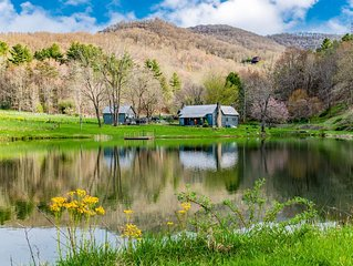 Oxbow Farms, a charming and private farmhouse near Asheville NC