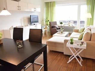 Moderne 2,5 -Zimmerwohnung mit Südbalkon in der ersten Etage.