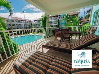 Pool Front BBQ  Beach House, Dream Location, Playa Turquesa Ocean Club