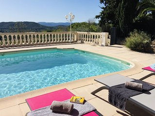 Villa *** avec Clim, Superbe Panorama, Piscine  chauffee.