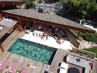 serre chevalier 1200 chalet de luxe, espace détente, sauna, spa, home cinema