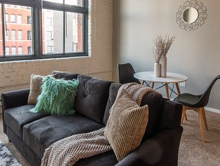 Unique + Updated  Centrally Located 1BR Apt