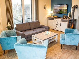Schone Penthouse Ferienwohnung, 3 Schlafzimmer, 2 Bader, Sauna, WLAN