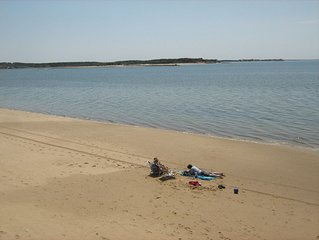 A premium location on Wellfleet Harbor with a 400' private beach....