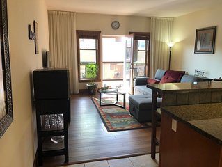 Pet friendly vacation condo with updated appliances & KING BED, overlooking pool