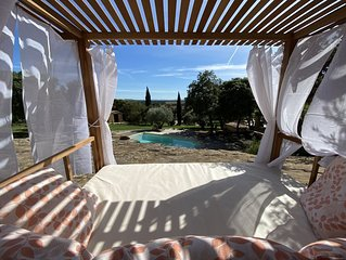 Mas authentic stone with pool for rent in Provence