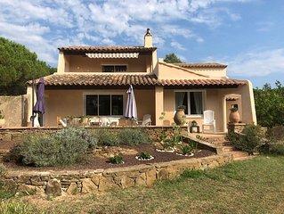 Belle maison de campagne 8 pers. proche des plages de Ramatuelle et de St Tropez