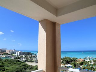 Beachfront 2-Bedroom Aruba Surf Club, Pools, Lazy River, Spa, Amenities +