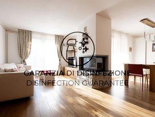 Luminoso e confortevole appartamento con Wi-Fi e giardino