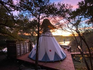 Go Glamping in An Authentic Tee Pee