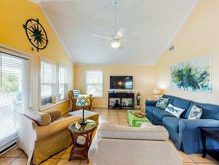New listing! Open, dog-friendly oasis w/ furnished decks - walk to the beach!