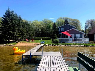 Otsego Lake Home with Beach, Extra lot, and Plenty of Privacy
