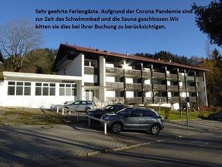 Fewo 2-3 Personen in Oberstdorf - Tiefenbach Schwimmbad, Sauna, Wlan,Balkon.