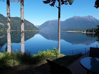Newer Cozy Lake Cushman Home With Spectacular Views From Every Room