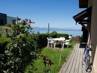 F2 en rez de chaussee avec jardinet et vue sur le lac