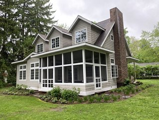 RECENTLY UPDATED Large Family Cottage Steps from Beautiful Lake Michigan!