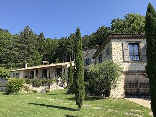 La Bergerie du Chateau de Divajeu : une demeure de charme avec piscine
