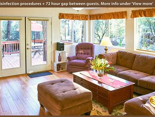 Modern, Cozy, Family Home in the Pines – Allergy Friendly