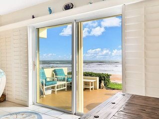 Direct Ocean view condo, private balcony,  pool,  beach access, king bed