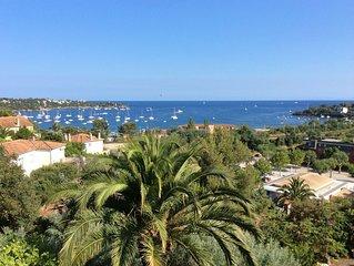 Appartement 60 m2 400 m des plages Saint Raphael Agay vue mer panoramique 2 ch