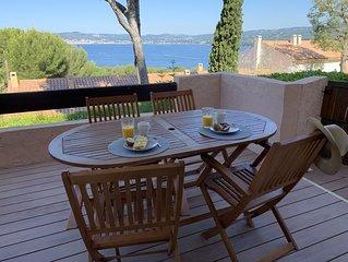 Splendide T2/3 refait a neuf, grande terrasse vue mer, plage 300m, garage