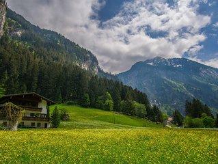 110m2 grosse Ferienwohnung, in ruhiger Lage im wildromantischen Zillertal