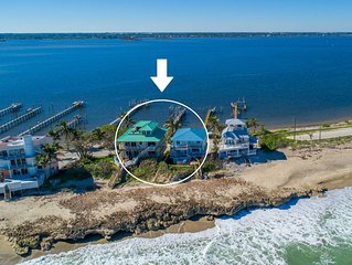 'Twice As Nice': 2 SideBySide Ocean-2-River Beach Houses: Docks, Hot Tubs & More