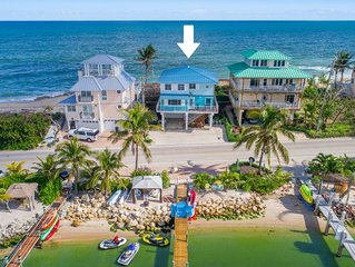 Best Beach-House Value in Florida: ON the BEACH!  hot tub, dock, & more!
