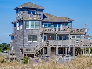 Special K's - Peaceful 6 Bedroom Oceanfront Home in Rodanthe