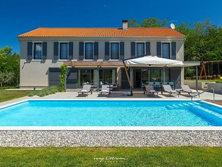 Modern villa with private pool near Porec