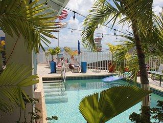 Caribbean Escape sleeps 4 w/ Pool on East End Overlooking  Beautiful Teague Bay
