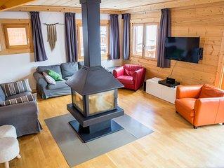 Chalet ideal pour 1, 2 ou 3 familles, avec sauna, au ceour de Montgenevre.