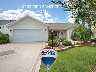 ***Certified Sanitized Home, King Master, Golf Cart No Contact Check in