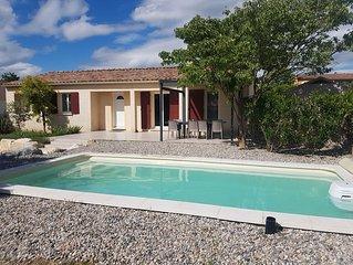 Villa ' Le Colombier '  Clim , wifi , piscine privée , 8 pers.