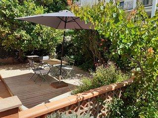 Magnifique T3 climatisé et refait à neuf avec jardin, parking, wifi