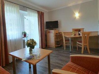 Freundlich eigerichtete Suite mit Kochnische und WLAN im Bayerischen Bäderdreiec