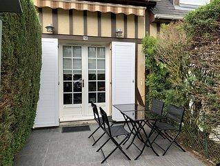 Petit Cottage Avec Jardin Terrasse Proche De La Plage  à Villers -Sur
