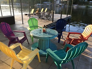 Lake front home with complimentary kayaks, Private Dock, Great outdoor spaces
