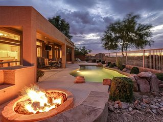 Resort home On golf course with heated pool/Jacuzzi, out door tv & City  views