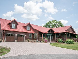 Custom Log Home direct St Johns River access with boat house and Lift
