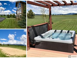 Spacious 5 Bedroom Home, 4 Acres, Hot Tub, Snowmobile Parking, Views, Game Room