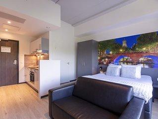 Luxury studios with kitchen.
