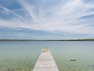 New listing! Near the village of Leland. Lake Leelanau frontage. Sleeps 14