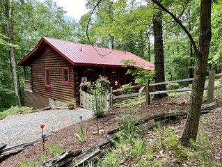 Red Roof Cottage in Cherry Log Mountain near downtown Blue Ridge and Ellijay