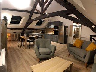 ☆ Joli appartement super-meublé refait à neuf avec jardin  Duplex